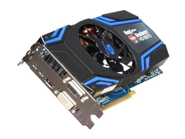 SAPPHIRE FleX Radeon HD 6870 DirectX 11 100314FLEX 1GB 256-Bit GDDR5 PCI Express 2.1 x16 HDCP Ready CrossFireX Support Video Card with Eyefinity