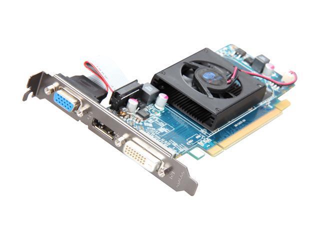 SAPPHIRE Radeon HD 6450 DirectX 11 100321DDR5L 512MB 64-Bit GDDR5 PCI Express 2.1 x16 HDCP Ready Low Profile Ready Video Card