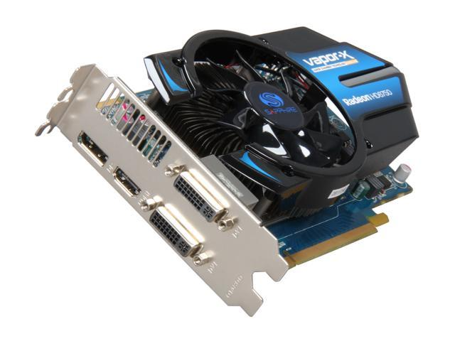 SAPPHIRE Vapor-X  Radeon HD 6750 1GB 128-bit GDDR5 PCI Express 2.1 x16 HDCP Ready CrossFireX Support Video Card with Eyefinity (100327VXL)