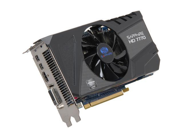 SAPPHIRE  Radeon HD 7770 GHz Edition 1GB 128-bit GDDR5 PCI Express 3.0 x16 HDCP Ready Video Card (11201-00-20G)