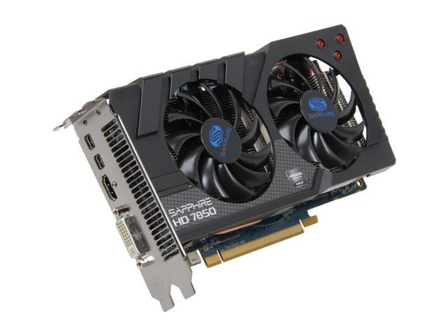 SAPPHIRE Radeon HD 7850 DirectX 11 11200-00-20G Video Card