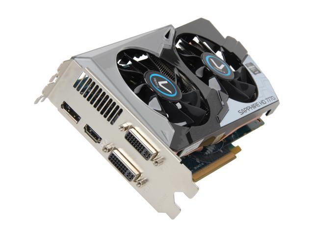 SAPPHIRE Vapor-X Radeon HD 7770 DirectX 11 100358VXL 1GB 128-Bit GDDR5 PCI Express 3.0 x16 HDCP Ready CrossFireX Support Video Card