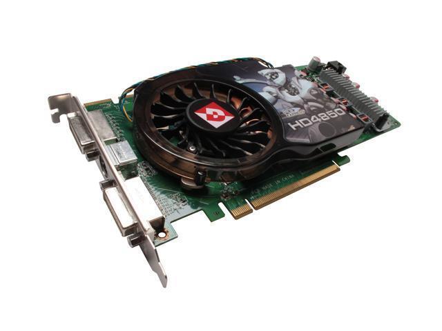 DIAMOND HD 4000 Radeon HD 4850 DirectX 10.1 4850PE3512V 512MB 256-Bit GDDR3 PCI Express 2.0 x16 HDCP Ready CrossFireX Support Video Card