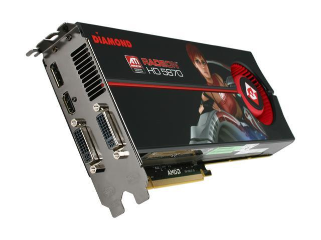 DIAMOND Radeon HD 5870 (Cypress XT) DirectX 11 5870PE51G Video Card with Eyefinity