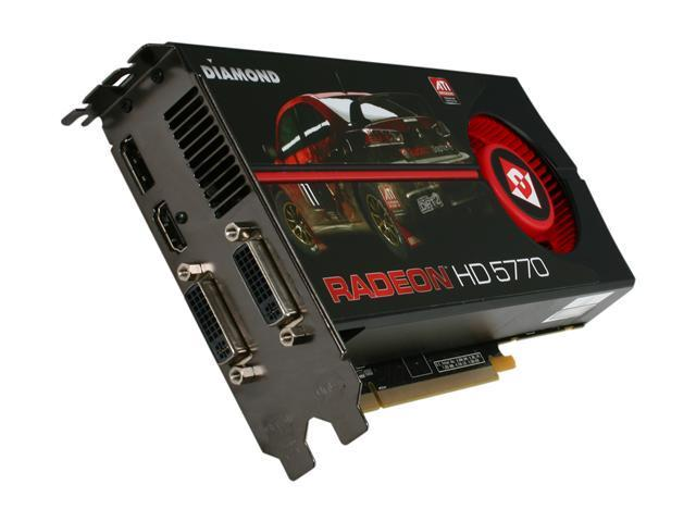 DIAMOND HD 5000 Radeon HD 5770 DirectX 11 5770PE51G 1GB 128-Bit GDDR5 PCI Express 2.0 x16 HDCP Ready CrossFireX Support Video Card