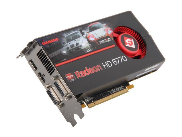 DIAMOND Radeon HD 6770 DirectX 11 6770PE51GB 1GB 128-Bit GDDR5 PCI Express 2.1 x16 HDCP Ready CrossFireX Support Video Card