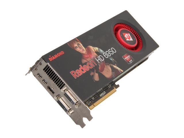 DIAMOND Radeon HD 6950 DirectX 11 6950PE52GB 2GB 256-Bit GDDR5 PCI Express 2.1 x16 HDCP Ready CrossFireX Support Video Card
