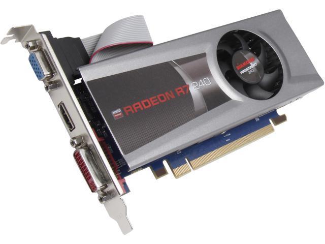 DIAMOND Radeon R7 240 DirectX 11.2 R7240D51GXOC 1GB 128-Bit GDDR5 PCI Express 3.0 x16 CrossFireX Support Low Profile Ready Video Card