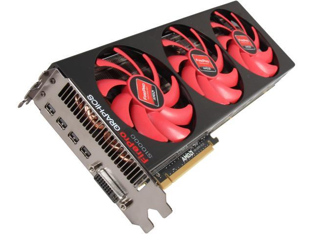 AMD FirePro S10000 100-505851 6GB 384-bit GDDR5 PCI Express 3.0 x16 Server Graphics