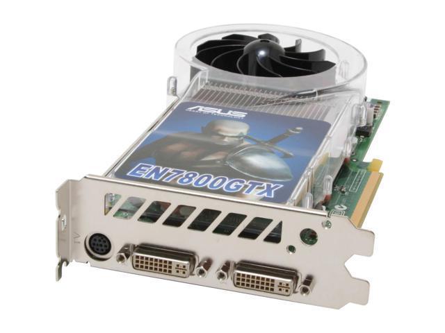 ASUS EN7800GTX/2DHTV/256 GeForce 7800GTX 256MB 256-bit GDDR3 PCI Express x16 SLI Supported Video Card