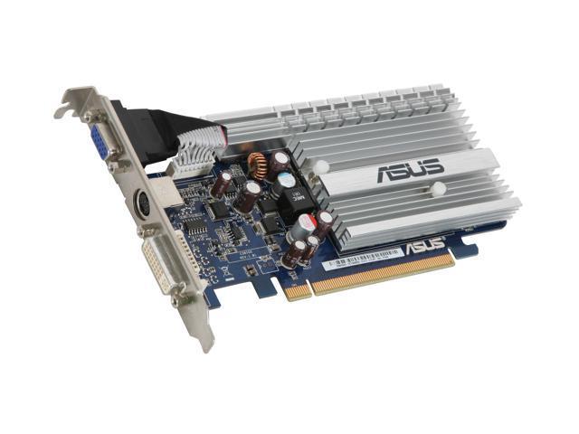 ASUS GeForce 8400 GS DirectX 10 EN8400GS SILENT/HTP/256M 256MB 64-Bit GDDR2 PCI Express x16 HDCP Ready Video Card
