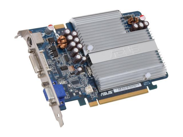 ASUS GeForce 7300GT DirectX 9 EN7300GT SILENT/HTD/512M 512MB 128-Bit GDDR2 PCI Express x16 SLI Support Video Card