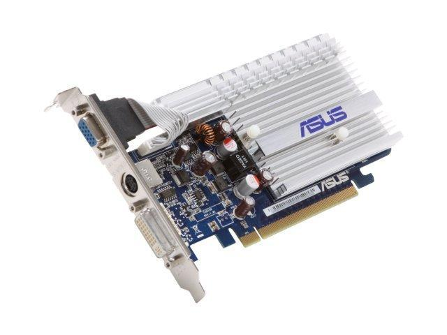 ASUS GeForce 8400 GS DirectX 10 EN8400GS SILENT/HTP/512M/V2 512MB 64-Bit DDR2 PCI Express 2.0 x16 HDCP Ready Video Card