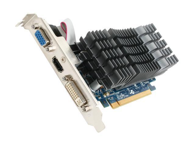 ASUS GeForce 210 DirectX 10.1 EN210 SILENT/DI/1GD3/V2(LP) 1GB 64-Bit DDR3 PCI Express 2.0 x16 Low Profile Ready Video Card