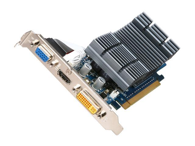ASUS GeForce 8400 GS DirectX 10 EN8400GS SILENT/DI/512MD2(LP) 512MB 64-Bit DDR2 PCI Express 2.0 x16 Low Profile Ready Video Card