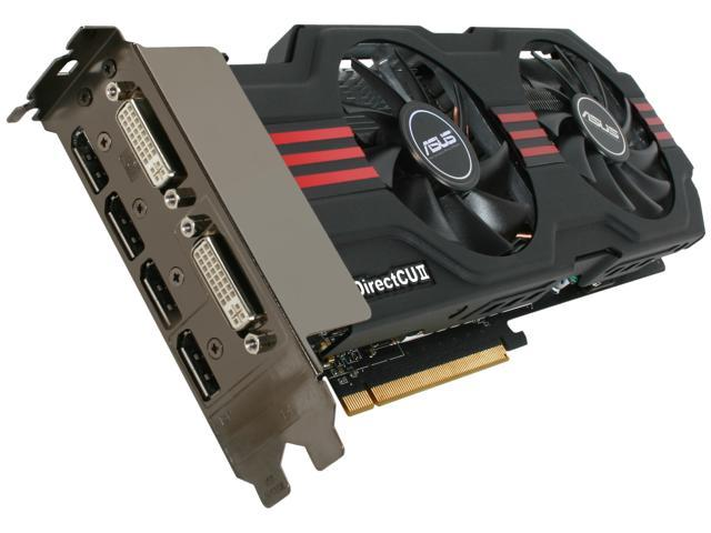 ASUS Radeon HD 6950 DirectX 11 EAH6950 DCII/2DI4S/1GD5 1GB 256-Bit GDDR5 PCI Express 2.1 x16 HDCP Ready CrossFireX Support Video Card with Eyefinity