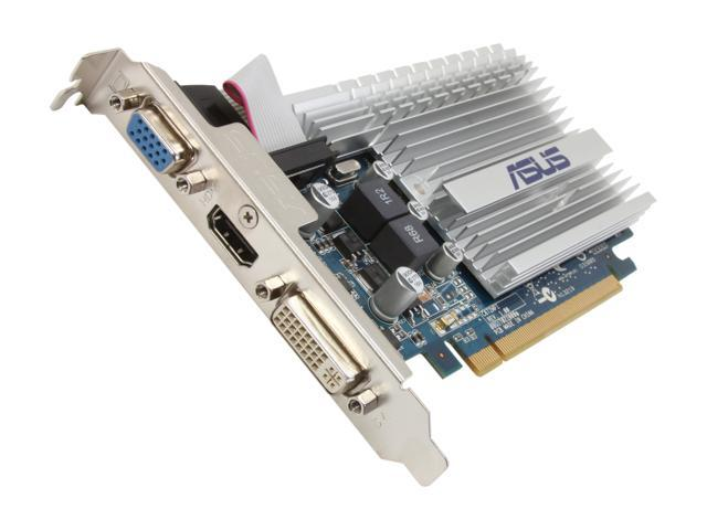 ASUS GeForce 8400 GS DirectX 10 8400GS-1GD3-SL 1GB 64-Bit DDR3 PCI Express 2.0 x16 HDCP Ready Video Card