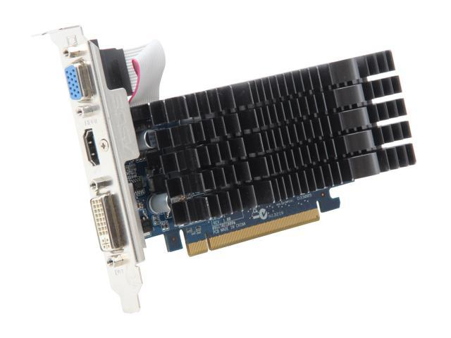 ASUS GeForce 210 DirectX 10.1 EN210 SILENT/DI/1GD3/C872MPI 1GB DDR3 HDCP Ready Video Card