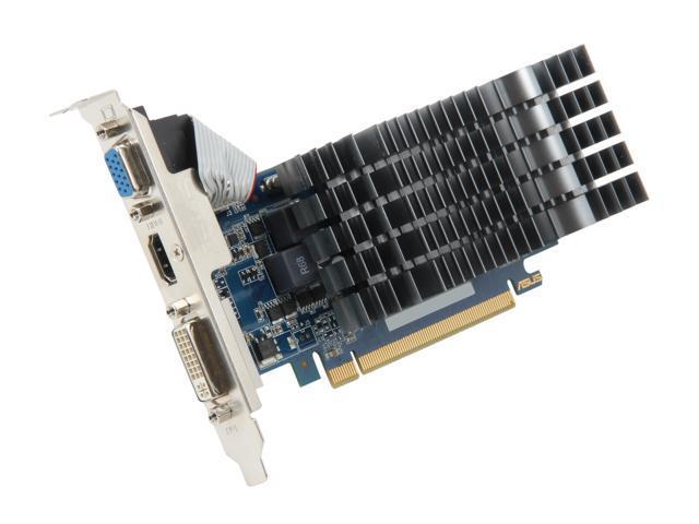 ASUS GeForce GT 520 (Fermi) DirectX 11 ENGT520 SL/DI/2GD3(LP) 2GB 64-Bit DDR3 PCI Express 2.0 x16 HDCP Ready Low Profile Ready Video Card