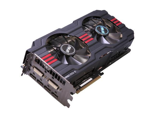 ASUS Radeon HD 7970 DirectX 11 HD7970-DC2-3GD5 3GB 384-Bit GDDR5 PCI Express 3.0 x16 HDCP Ready CrossFireX Support Video Card