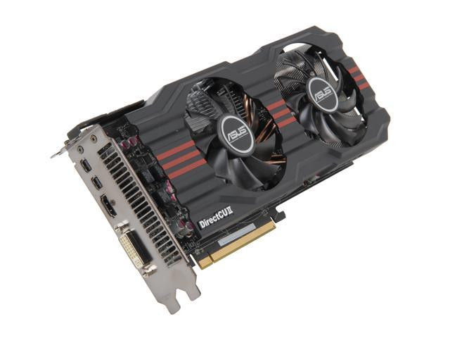 ASUS Radeon HD 7870 GHz Edition DirectX 11 HD7870-DC2-2GD5 2GB 256-Bit GDDR5 PCI Express 3.0 x16 HDCP Ready CrossFireX Support Video Card
