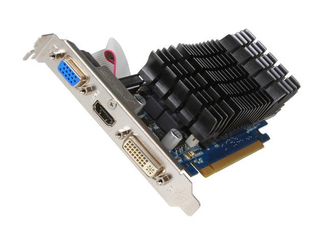 ASUS GeForce 8400 GS DirectX 10 8400GS-SL-512MD3 512MB 64-Bit DDR3 PCI Express 2.0 x16 HDCP Ready Low Profile Ready Video Card
