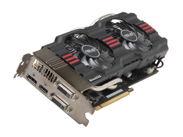ASUS GTX 600 GeForce GTX 670 DirectX 11 GTX670-DC2-4GD5 4GB 256-Bit GDDR5 PCI Express 3.0 x16 HDCP Ready SLI Support Plug-in Card Video Card