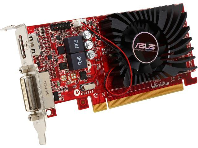 ASUS Radeon R7 240 DirectX 11.2 R7240-2GD3-L 2GB 128-Bit DDR3 PCI Express 3.0 HDCP Ready Low Profile Video Card