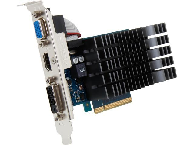 ASUS GeForce GT 720 DirectX 11 GT720-2GD3-CSM 2GB 64-Bit DDR3 PCI Express 2.0 x 8 HDCP Ready Video Card