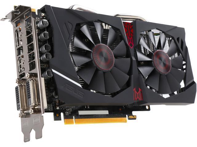 ASUS Radeon R7 370 STRIX-R7370-DC2OC-4GD5-GAMING 4GB 256-Bit DDR5 PCI Express 3.0 HDCP Ready Video Card
