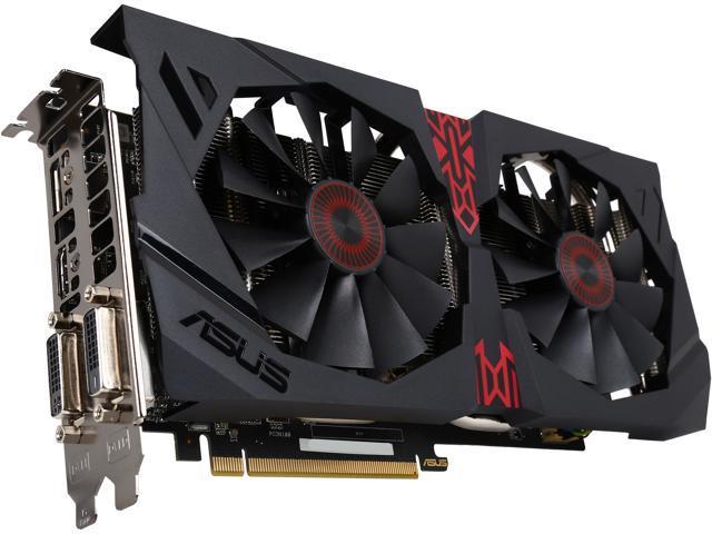 ASUS Radeon R9 380 STRIX-R9380-DC2OC-4GD5-GAMING 4GB 256-Bit GDDR5 PCI Express 3.0 HDCP Ready CrossFireX Support Video Card