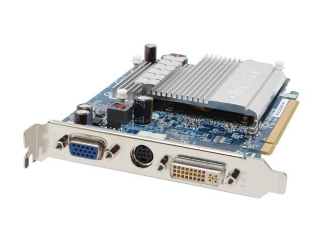 GIGABYTE Radeon X1300 DirectX 9 GV-RX13256DP-RH 256MB 128-Bit GDDR2 PCI Express x16 Silent Pipe II, Lead Free Video Card