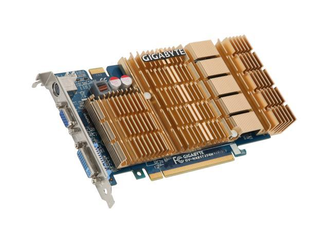 GIGABYTE GeForce 8500 GT DirectX 10 GV-NX85T256H 256MB 128-Bit GDDR2 PCI Express x16 HDCP Ready SLI Support Video Card