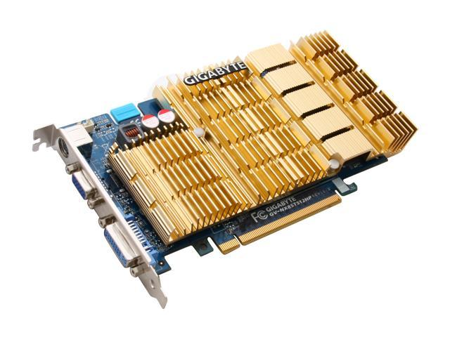 GIGABYTE GeForce 8500 GT DirectX 10 GV-NX85T512HP 512MB 128-Bit GDDR2 PCI Express x16 HDCP Ready Video Card
