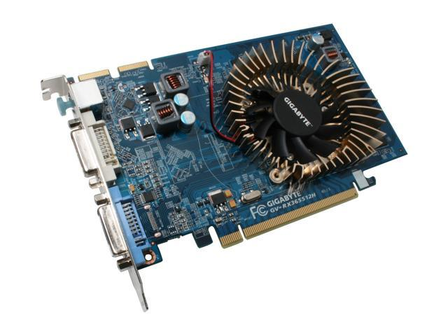 GIGABYTE Radeon HD 3650 DirectX 10.1 GV-RX365512H 512MB 128-Bit GDDR2 PCI Express 2.0 x16 HDCP Ready CrossFireX Support Video Card