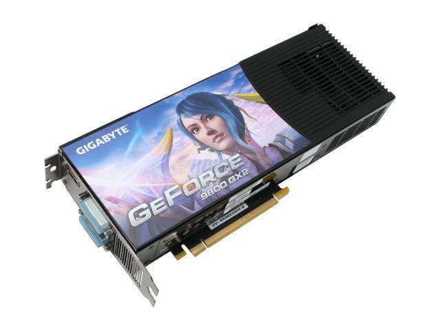 GIGABYTE GeForce 9800 GX2 DirectX 10 GV-NX98X1GHI-B Video Card