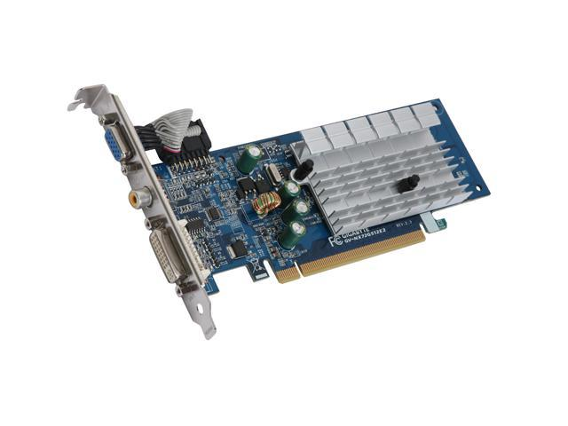 GIGABYTE GeForce 7200GS DirectX 9 GV-NX72G512E2 Video Card