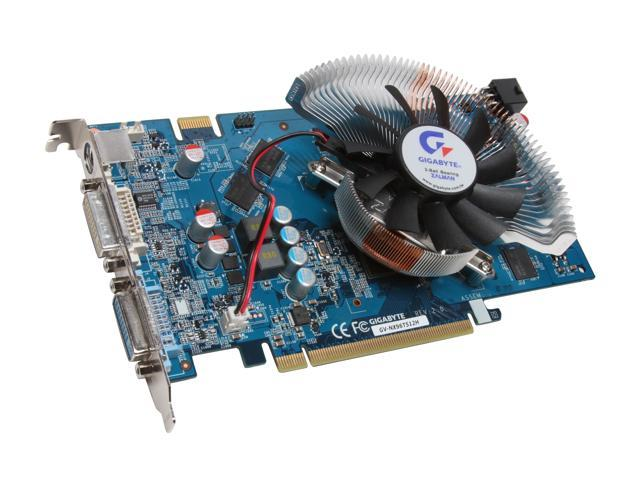 GIGABYTE GeForce 9600 GT DirectX 10 GV-NX96T512H Video Card