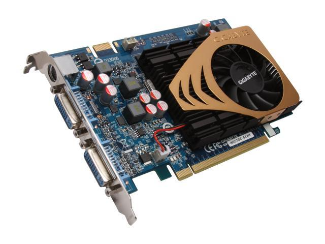 GIGABYTE GeForce 9500 GT DirectX 10 GV-N95TOC-512H 512MB 128-Bit GDDR2 PCI Express 2.0 x16 HDCP Ready SLI Support Video Card