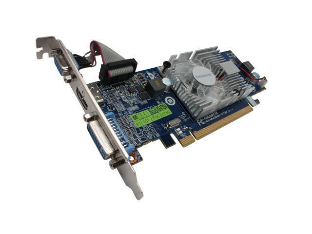 GIGABYTE Radeon HD 4350 DirectX 10.1 GV-R435OC-512I 512MB 64-Bit GDDR2 PCI Express 2.0 x16 HDCP Ready Low Profile Ready Video Card