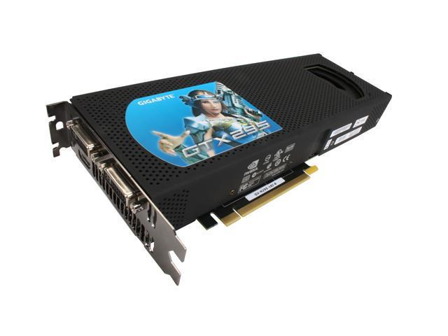 GIGABYTE GeForce GTX 295 DirectX 10 GV-N295-18I-B 1792MB 896 (448 x 2)-Bit GDDR3 PCI Express 2.0 x16 HDCP Ready SLI Support Video Card