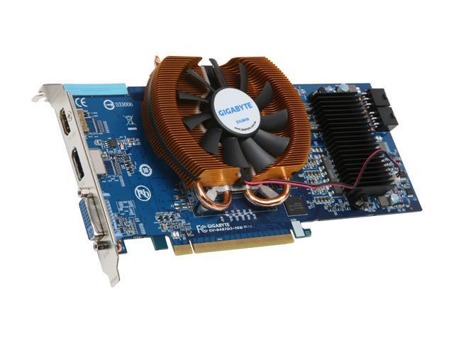 GIGABYTE Radeon HD 4870 DirectX 10.1 GV-R487D5-1GD 1GB 256-Bit GDDR5 PCI Express 2.0 x16 HDCP Ready CrossFireX Support Video Card