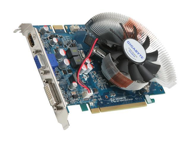 GIGABYTE GeForce 9500 GT DirectX 10 GV-N95TD3-512I Video Card
