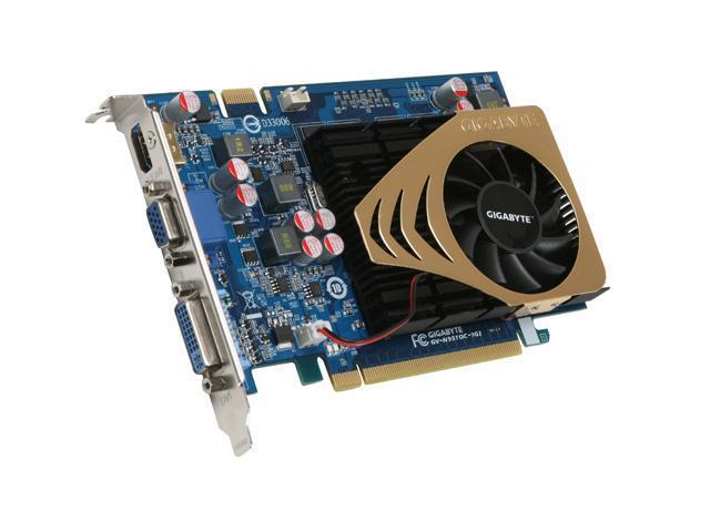 GIGABYTE GeForce 9500 GT DirectX 10 GV-N95TOC-1GI 1GB 128-Bit GDDR2 PCI Express 2.0 x16 HDCP Ready SLI Support Video Card