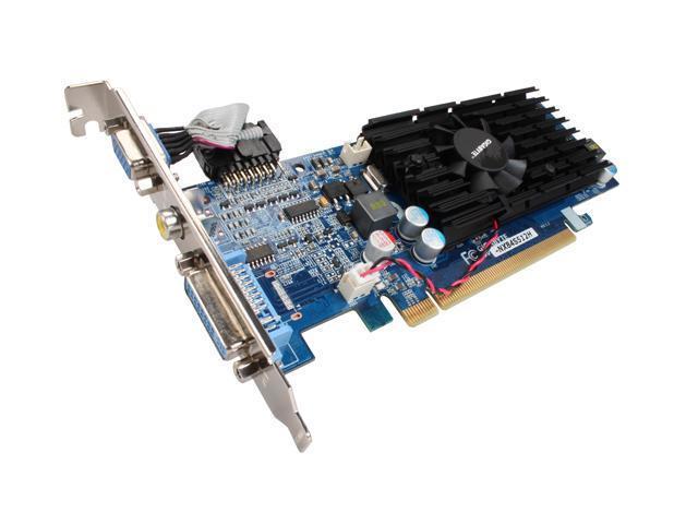 GIGABYTE GeForce 8400 GS DirectX 10 GV-NX84S512H 512MB 64-Bit GDDR2 PCI Express 2.0 x16 HDCP Ready Low Profile Ready Video Card
