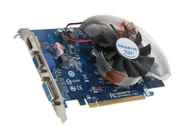 GIGABYTE Radeon HD 4670 DirectX 10.1 GV-R467ZL-1GI 1GB 128-Bit DDR3 PCI Express 2.0 x16 HDCP Ready Video Card