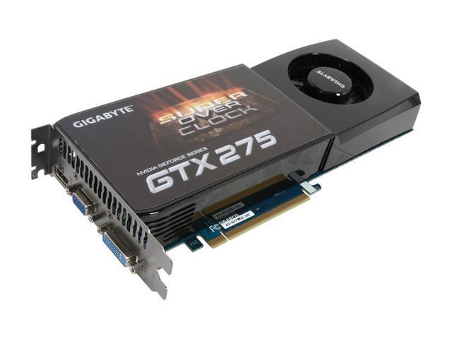 GIGABYTE GeForce GTX 275 DirectX 10 GV-N275SO-18I Video Card