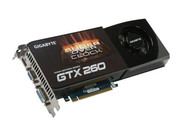 GIGABYTE GeForce GTX 260 DirectX 10 GV-N26SO-896I Video Card
