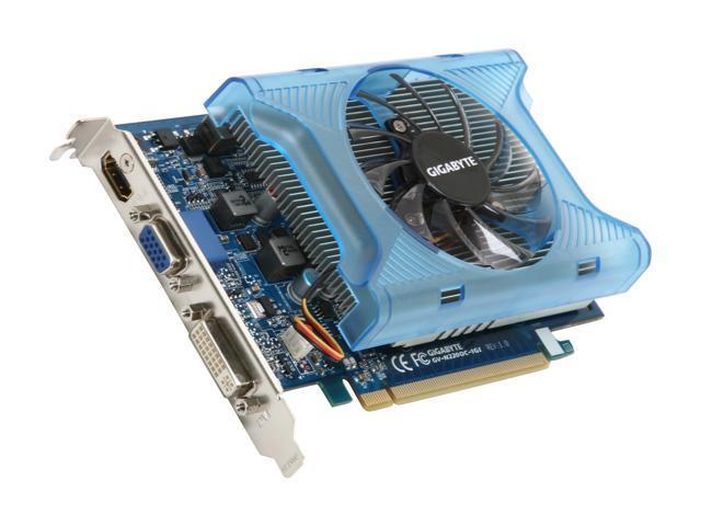 GIGABYTE GeForce GT 220 DirectX 10.1 GV-N220OC-1GI 1GB 128-Bit DDR3 PCI Express 2.0 x16 HDCP Ready Video Card