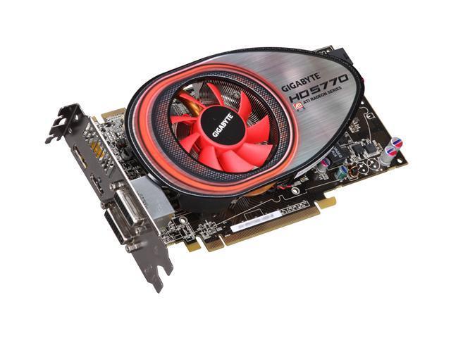 GIGABYTE Radeon HD 5770 DirectX 11 GV-R577D5-1GD-B Rev2.0 Video Card